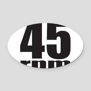 45 RPM Oval Car Magnet