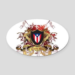 PR shield Oval Car Magnet