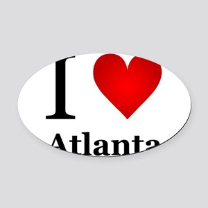 I Love Atlanta Oval Car Magnet