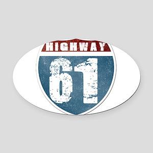 Highway 61 Oval Car Magnet