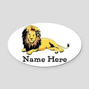 Personalized Lion Oval Car Magnet