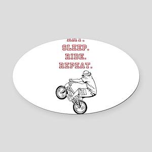 Eat, Sleep, Ride, Repeat Oval Car Magnet