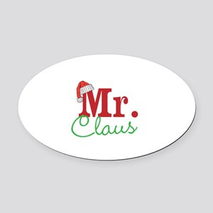 Christmas Mr Personalizable Oval Car Magnet