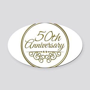 50th Anniversary Oval Car Magnet