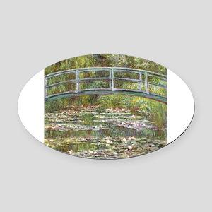 Monet Bridge over Water Lilies Oval Car Magnet