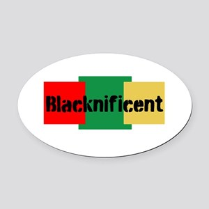 Blacknificent Oval Car Magnet
