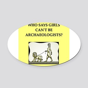 archaeology Oval Car Magnet
