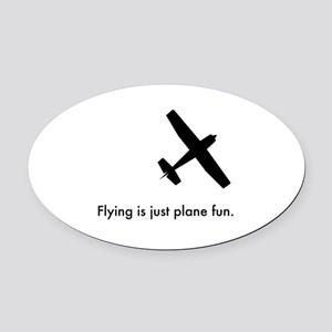 Plane Fun 1407044 Oval Car Magnet