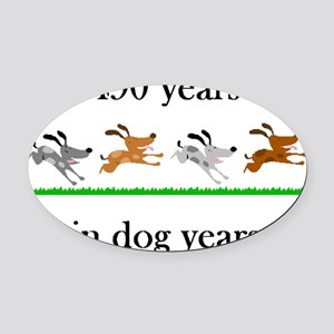 70 birthday dog years 1 Oval Car Magnet