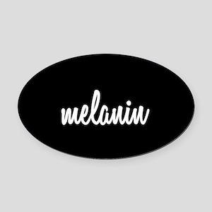 Melanin Oval Car Magnet