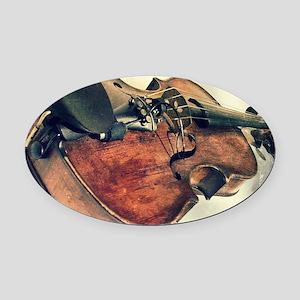 classic vintage violin Oval Car Magnet
