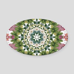 bohemian Chic boho floral Oval Car Magnet