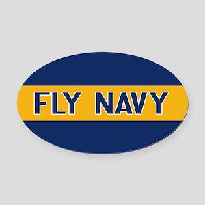 U.S. Navy: Fly Navy (Blue & Gold) Oval Car Magnet