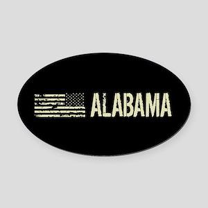Black Flag: Alabama Oval Car Magnet