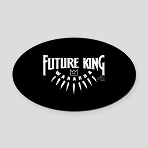 Black Panther Future King Oval Car Magnet