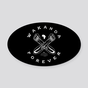 Black Panther Wakanda Forever Oval Car Magnet