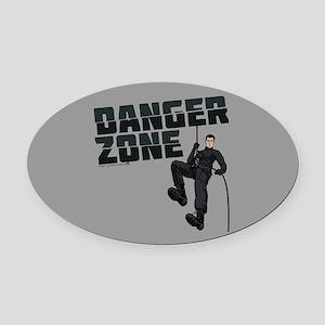 Archer Danger Zone Oval Car Magnet