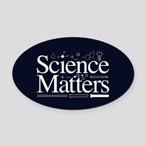 Science Matters Oval Car Magnet