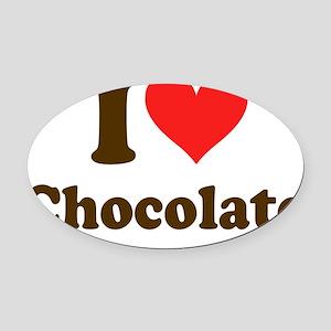 I Heart Chocolate Oval Car Magnet