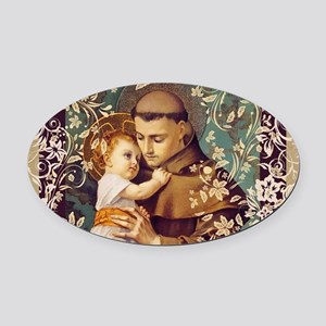 Saint Anthony Oval Car Magnet