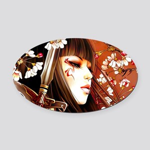 Geisha Oval Car Magnet