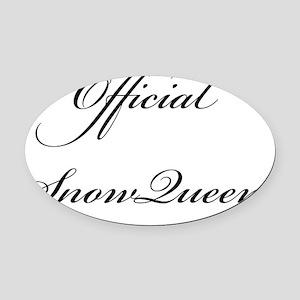 SnowQueen Oval Car Magnet