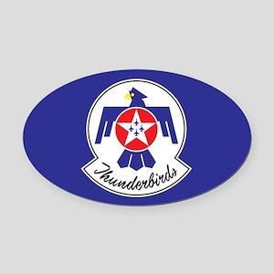 USAF Thunderbirds Emblem Oval Car Magnet