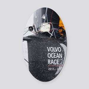 Volvo Ocean Race Oval Car Magnet