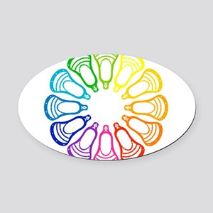 Lacrosse Spectrum Oval Car Magnet