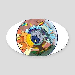 Healing Circle - white Oval Car Magnet
