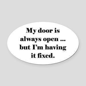 Open Door Oval Car Magnet