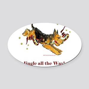 Jingle all the way 2007 Oval Car Magnet