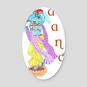 Hare Krishna Dance ! Oval Car Magnet