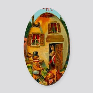 easter-egg-house Oval Car Magnet