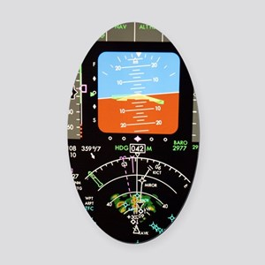 Aeroplane control panel display Oval Car Magnet