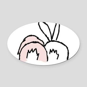 !!bunnybt3 Oval Car Magnet