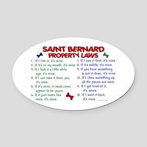 Saint Bernard Property Laws 2 Oval Car Magnet