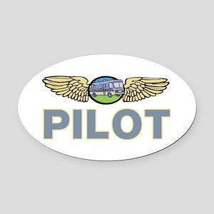 RV Pilot  Oval Car Magnet