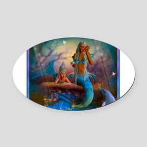 Best Seller Merrow Mermaid Oval Car Magnet