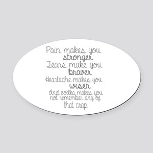 vodka humor Oval Car Magnet
