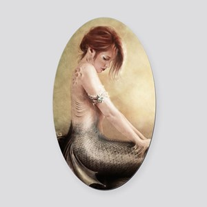 Sea Faerie, Cropped Oval Car Magnet