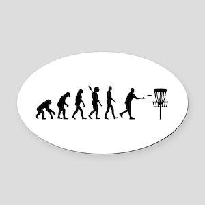 Evolution Disc golf Oval Car Magnet