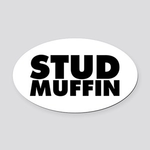 Stud Muffin Oval Car Magnet