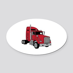 Kenworth Tractor Oval Car Magnet