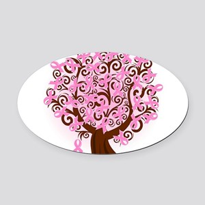 The Tree of Life...Breast Cancer Oval Car Magnet