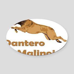 Dantero Malinois Logo - Square Oval Car Magnet