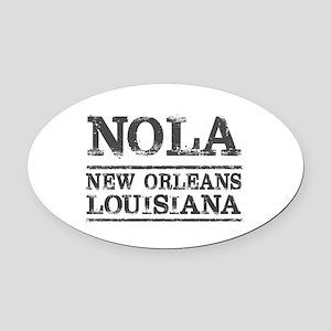 NOLA New Orleans Vintage Oval Car Magnet