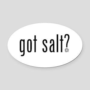 Got Salt Oval Car Magnet