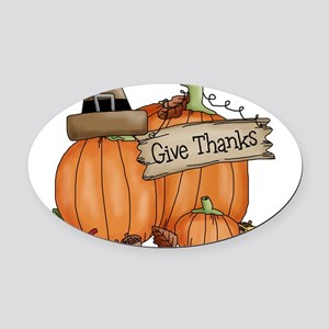 Thanksgiving Oval Car Magnet