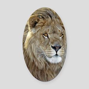 lion-portrait-t-shirt Oval Car Magnet